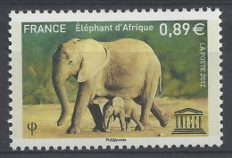 France, Official Stamp, UNESCO, African Eephant,  2012, MNH VF - Officials