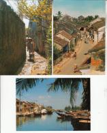 VIETNAM Viet Nam  - PHO CO HOI AN - QUANG NAM - Petit Lot De 3 CPM Jolies GF Diversifiées (toutes Scannées Recto-verso) - Vietnam