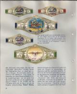 NL.- Boek - De Geschiedenis Van De Luchtvaart. Uitgave Van De Sigarenfabriek N.V. Washington. 5 Scans. - Sigarenbandjes