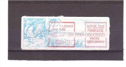 (Cagou Vignette à La Date Du 30/07/99) *NOUVELLE CALEDONIE*  25/09/110 - Automatenmarken