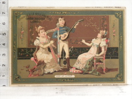 """Chromo Chicorée à La Boulangère - Cardon Duverger Cambrai - Lith J. Minot - Chez Le Luthier """"harpe, Mandoline"""" - Tea & Coffee Manufacturers"""