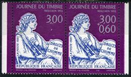 """FRANCE P3052A**  3,00f Et 3,00f+0,60f  Violet, Gris Clair Et Blmeu Foncé Journée Du Timbre """"Mouchon 1902"""" Paire Issue De - France"""