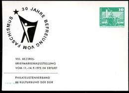 DDR PP16 D2/022 Privat-Postkarte BEFREIUNG VOM FASCHISMUS Erfurt 1975 - [6] Repubblica Democratica