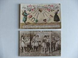 2 CP Poilus  Carte D'amour  Et Le Langage Des Porte-bonheurs  WW 1914-1918 - Guerre 1914-18