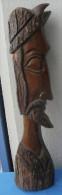 BUSTE, STATUE D´un Conquistador Sculptée Dans Le Bois H 51 Cm - Bois