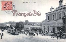 (27) Bernay - La Gare - Locomotive Train Tren - Excellent état - 2 SCANS - Bernay