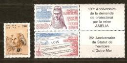 Wallis Et Futuna  1986  Yvertn° PA 150 Et 151-152 *** MNH Cote 12,70 Euro - Poste Aérienne