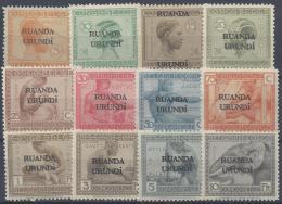 BELGIUM RUANDA URUNDI 1924 Nº 50/61