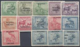 BELGIUM RUANDA URUNDI 1925 Nº 64/76