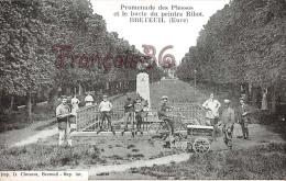 (27) Breteuil - Promenade Des Plesses Et Le Buste Du Peintre Ribot - Attelage Chiens - Excellent état - 2 SCANS - Breteuil