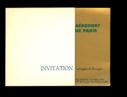 Invitation De L'Aéroport De Paris 1968 Et 1969 à La Réception Donnée En L'honneur Des Compagnies Aériennes Au Bourget - Programmi