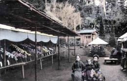 CHINESISCHER MARKT, Blumenstände, Kinder, Karte Mit österreichischer Frankierung - China