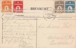 KOBENHAVN Gefion Fontainen 1912 Seltene 4 Farben Frankierung - Dänemark