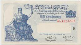 Argentina 50 Centavos 1947 Pick 256 AUNC - Argentinië