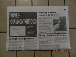 WAVRE - CHAUMONT-GISTOUX  : Carte Topographique  IGN - Cartes Topographiques