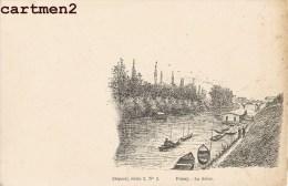 POISSY LA SEINE PAR L' ILLUSTRATEUR EDMOND BORIES 78 YVELINES 1900 - Poissy