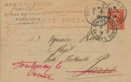 Entier Postal Type Semeuse 10c Rouge - 7-5-1914 - Entiers Postaux