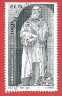 ITALIA REPUBBLICA USATO - 2014 - 450º Anniversario Della Nascita Di Galileo Galilei - € 0,70 - S. 3469 - 2011-...: Afgestempeld