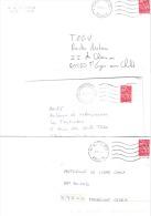 26 Lettres Oblitération Mécanique NEC Code Ville Plus France - Marcophilie (Lettres)