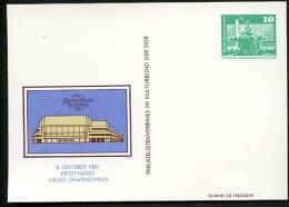 GEWANDHAUS Leipzig DDR PP16 D2/039 Privat-Postkarte 1981 - Musik
