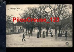 """21 C�te d'Or - IS sur TILLE - """" Place du Champ de Foire - Animation - Caf� du Midi """""""
