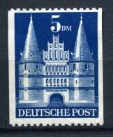 27143) ALL.BESETZUNG 5.- DM Bauten 2-seitig Ungezähnt Postfrisch - Bizone