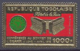Togo YT N°742A Conférence Au Sommet De L'OCAMM Lomé (timbre Or) Neuf ** - Togo (1960-...)