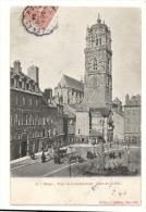 Cp, 12, Rodez, Tour De La Cathédrale, Place De La Cité, Voyagée 1904 - Rodez