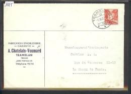 SUISSE - LETTRE HORLOGERIE - MONTRES  - A. CHATELAIN VOUMARD  TRAMELAN - Suisse