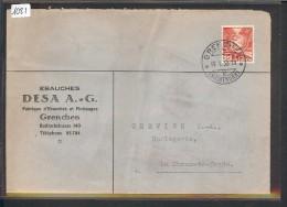 SUISSE - LETTRE HORLOGERIE - MONTRES  - EBAUCHES DESA A.G. - GRENCHEN - Suisse