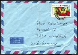 (1132) Bedarfsbrief Mit Motiv Schmetterling (Papilio Androgeus) - Antigua Und Barbuda (1981-...)