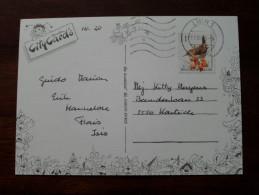 Uit Kontich Van Harte Beterschap gewenst ( City Cards Nr. 20 - Fantasie) Anno 1993 ( zie foto voor details ) !!