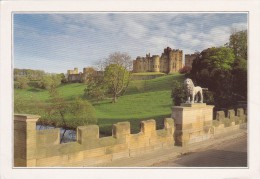 Big Card, Alnwick Castle From Lion Bridge, Northumberland, England, L18. - England