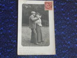 Carte Photographique D'un Couple Discutant - Photographs