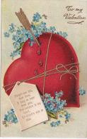 VALENTINE  CARD. EMBOSSED - Valentine's Day