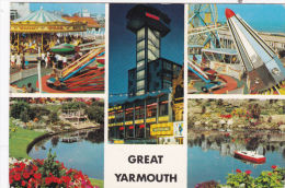 GREAT YARMOUTH MULTI VIEW. FAIRGROUND - Great Yarmouth
