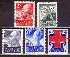 1927 Rode Kruis Zegels Gestempelde Serie NVPH 203 / 207 - 1891-1948 (Wilhelmine)