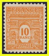 N° 629 - ARC DE TRIOMPHE 1944 - N* TRACE DE CHARNIERE - - 1944-45 Arc De Triomphe