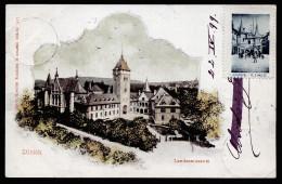 A2931) Ansichtskarte Zürich Landesmuseum 1899 Color Gebraucht