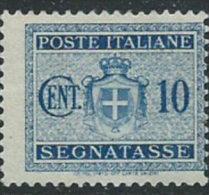 Italia 1945 Segnatasse Nuovo** - 10c Azzurro - 1900-44 Vittorio Emanuele III