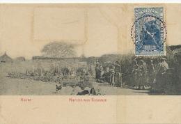 Harar Marché Aux Roseaux Voyagé Dire Daoua 1910 Etat - Ethiopie