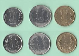 India 1 + 2 + 5 Rupee 2011 - India