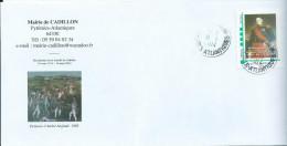 Mal Bertrand CLAUZEL - Bicentenaire De La Bataille De Cadillon (64) - Enveloppe Personnalisée Oblitérée 18/03/2014 - France