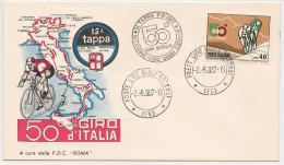 FERRARA (0904) - Busta F.D.C. 50° Giro D´Italia - 14^ E 15^  Tappa Riccione - Lido Degli Estensi - Mantova - 1967 - Ferrara