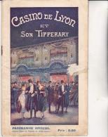 PROGRAMME  -CASINO DE LYON ET SON TIPPERARY -OCTOBRE 1924 - Programs