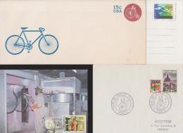 FRANCE+USA+SUISSE+CISKEI        ENVELOPPE  +CARTE  CYCLISME   Réf  9011 GF - Ciclismo