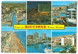 Italy, Saluti Di RICCIONE, Riviera Adriatica, 1970 Used Postcard [14073] - Rimini
