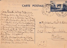 Timbre Europe France Marcophilie (Carte Postale) - Marcophilie (Lettres)