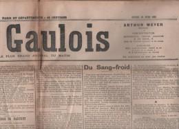 LE GAULOIS 19 06 1905 - LA PEUR - ALPHONSE XIII MADRID - BOIS DE BOULOGNE - TAMBOUR - ISLANDE - MONTMARTRE Mgr DELAMAIRE - Journaux - Quotidiens