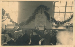 LANGON - Photo D´un Rassemblement Du 14 Juillet 1936 Avec Hommes Au Poing Levé - Langon